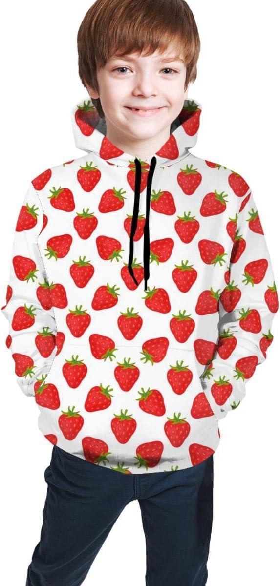 Rxi9s Strawberry Boys Girls Moda manga larga con capucha ...