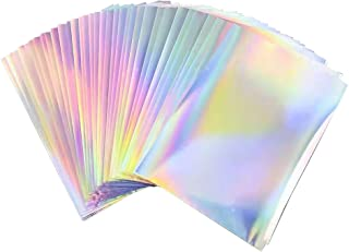 $23 » 50 Sheets 8.5 x 11 Inches Printable Holographic Vinyl Sticker Paper Rainbow Sticker Paper For Inkjet & Laser Printer Quick...