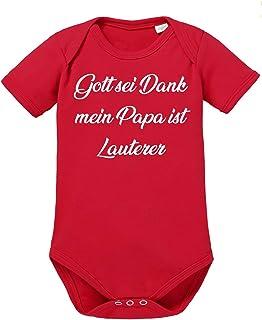 clothinx Gott Sei Dank, Mein Papa ist Lauterer, Lustiges Fussballmotiv Baby Body Bio