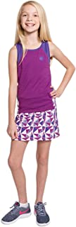 Street Tennis Club Girls Tennis and Golf Tank and Skirt Set with Built in Shorts