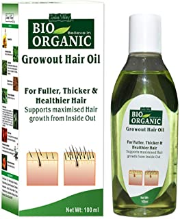 Indus Valley Bio Organic Growout Hair Oil For Fuller Thickerr And Helthier Hair - 100 ml.