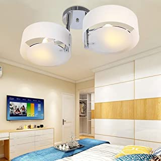 Lámpara de techo de dormitorio minimalista moderna decoración de personalidad creativa sala de estar comedor moda lámpara de araña de explosión de acrílico redonda