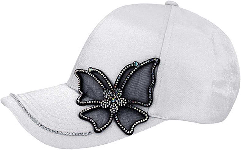 Women Girls Fashion Bling Baseball Cap Rhinestone Studded Sun hat Adjustable Visor Hat
