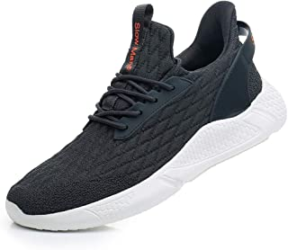 Men's Running Shoes Sock Sneakers - Air Knit Mesh Breathable Sport Shoes Lace-up Comfortable Shock Cushioning Sneakers