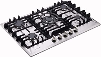 """Deli-mate 30"""" Gas Cooktop Dual Fuel 5 Sealed Burners Gas Cooktop Stainless Steel Drop-In Gas Stove DM527-SA02 Gas Hob Gas ..."""