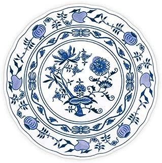 Blue Onion Traditional Czech Porcelain Decor Plate| European Handmade Quality Design |  (Diameter 9.5