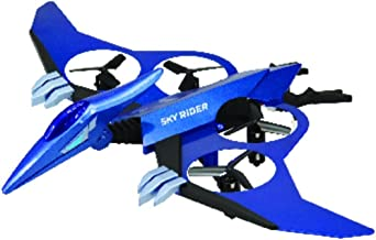 Sky Rider Pterodactyl Quadcopter Drone with LED Light Effects, Includes Remote Control, Blue (DR397BU)