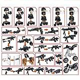 Leic Conjunto de Armadura de Arma de para el Equipo de SWAT Compatible con Lego Minifigures Soldiers Soldiers