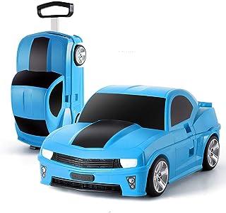 YCYHMYF Car Model Travel Case Car Trolley Case Student School Bag Children 18-inch Boarding Case (Blue)