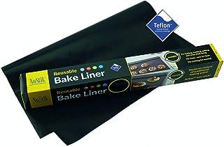 Tapis de cuisson réutilisable en téflon. Anti-adhésif. Permet d'éviter les salissures. 33 x 36 cm. Simple Noir