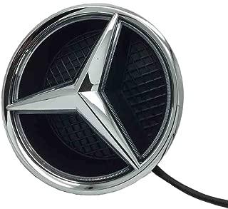 Cszlove Car Front Grilled Star Emblem LED Illuminated Logo for Mercedes Benz 2015-2017 GLC GLE GLS Center Front Badge Lamp Light - White Light