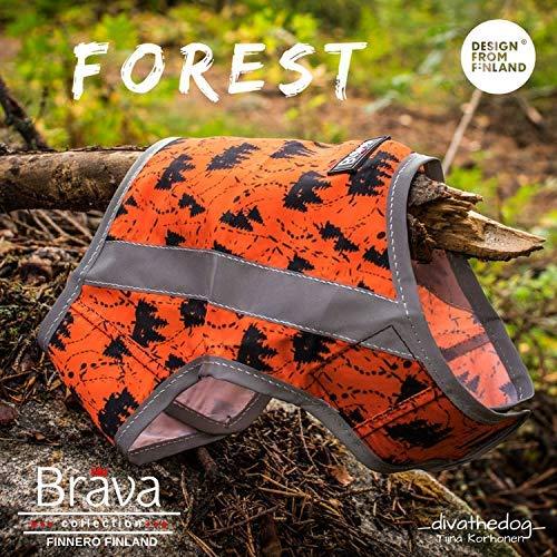 FinNero ATTE Forest Attention Reflektierende Weste für Hunde, XL
