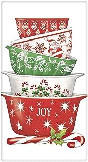 Mary Lake Thompson Christmas Flour Sack Towel - Holiday Vintage-Style Bowls