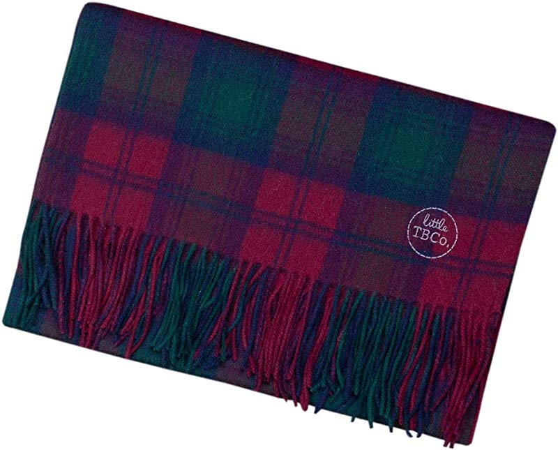 The Tartan Blanket Co Lambswool Baby Blanket Lindsay Tartan 30 X 43