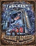 Camioneros–Columna Vertebral placa metálica, 16x 13en...