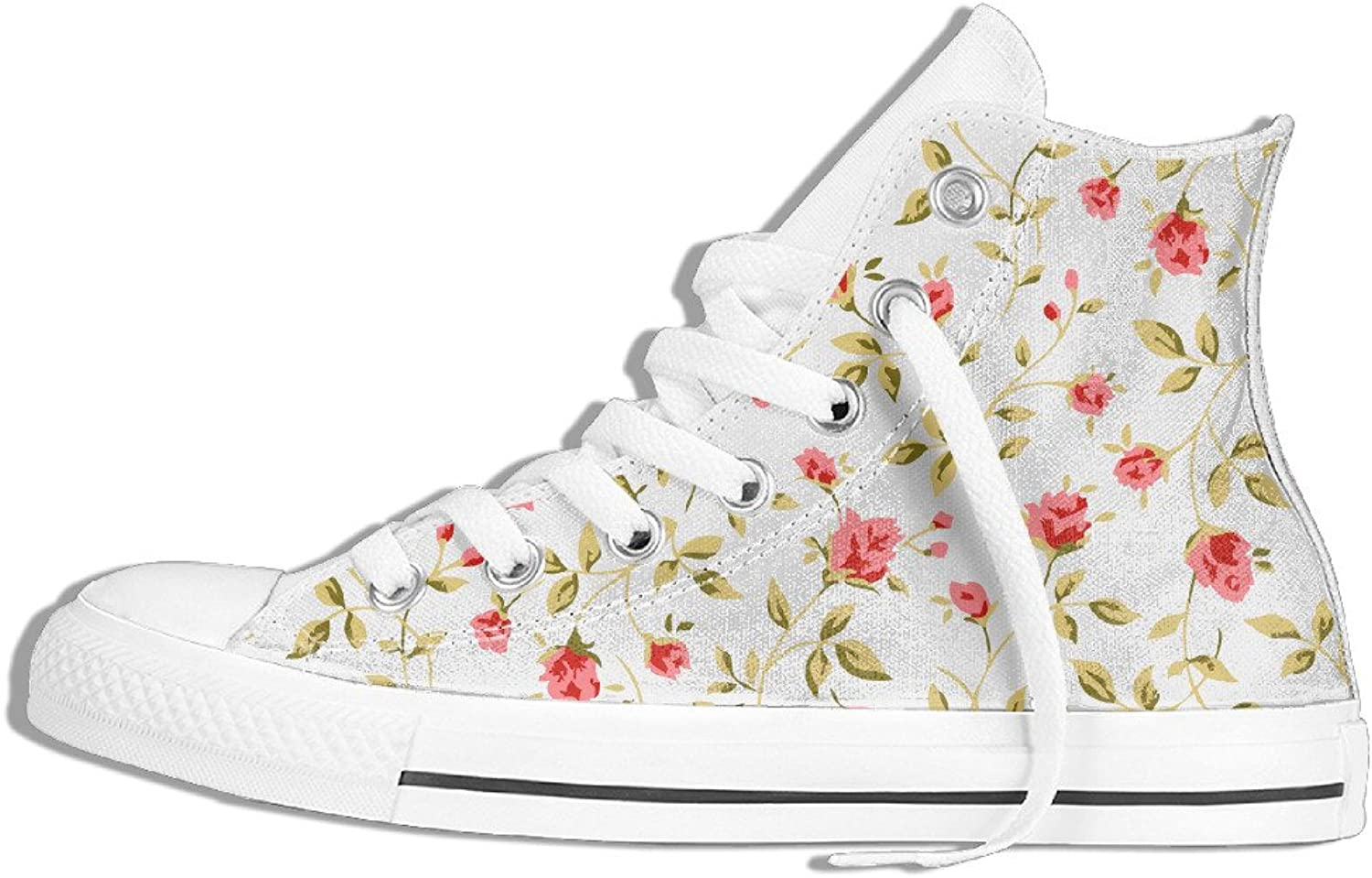 Efbj Vintage Floral Pattern Unisex Leisure High Top Gym shoes Trainers Sneakers for Men and Women