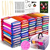 YIBEN 50 Colors Polymer Clay Kit, Non-Toxic Modeling DIY Oven Bake Clay Assorted with Sculpting Tools, Accessories and Portable Storage Box, for Kids/Adults/Beginners/Artists