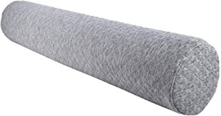uxcell Memory Foam Bolster Round Neck Support Pillow Cervical Roll Leg Spacer Waist Back Support for Home Bed Office Travel Use - 23.6inches X 4.7inches / 60cm X 12cm Light Gray 2