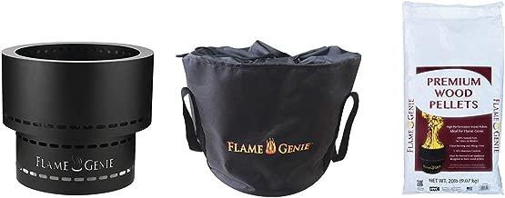 Flame Genie KIT3HYC1920GT Inferno Fire Pit Bundle, Black
