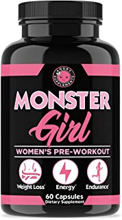Monster Girl, Women's Pre-Workout + Recovery by Angry Supplements, Apple Cider Vinegar & Garcinia Cambogia for Weight Loss...