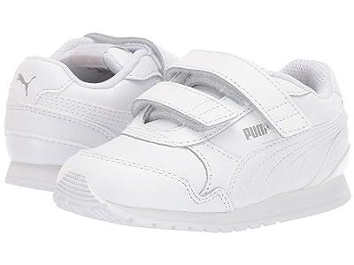 Puma Kids ST Runner v2 L V (Toddler) (Puma White/Gray Violet) Kids Shoes