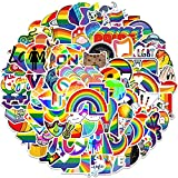 EUFFO Regenbogen Sticker Set 100 Stück LGBTQ Graffiti Decals Aufkleber für Laptop Fahrrad Motorrad Skateboard Koffer Helm Auto Wasserfeste Aesthetic Deko Sticker