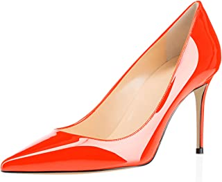 11453f84474 Eldof Women s High Heel Pumps - Classy Pointy Toe Pumps - Office Wedding  Party Event Comfort