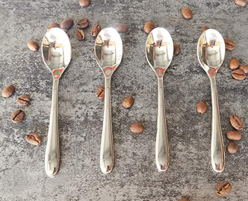 Pretty Home 45quot Coffee Spoon Demitasse spoonEspresso spoon Stainless Steel 18/10 SUS 304# Food Safety Grade 4 Pieces