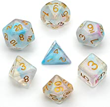 UDIXI DND Dice Sets Iridecent Double Swirls Polyhedral Dice for Dungeons and Dragons Pathfinder DND RPG MTG Table Gaming Dice