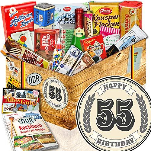 55. Geburtstag + Süßigkeiten-Set DDR + Geburtstagsgeschenke Papa