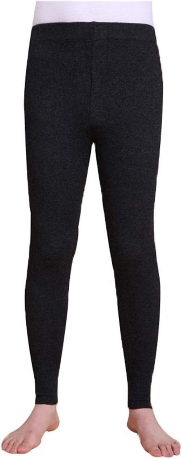 QWERBAM Winter Tights Men's Thermal Underwear Pants Trousers Thermal Underwear Mens Leggings (Color : 18100 Black, Size : Medium)