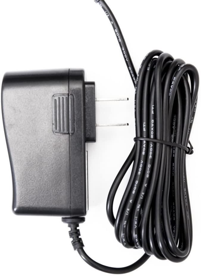 Omnihil 9 Volt 1 Amp Power Adapter, AC to DC, 2.1millimeters X 5.5millimeters Plug, Regulated UL 9v 1a Power Supply Wall Plug Extra 8 Feet Cord