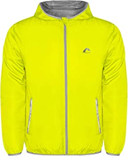 More Mile Flash Windbreaker Mens Running Jacket - Yellow