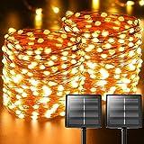 Luci Solari Esterno, 【2 Pacchi】 22m 220 LED (Perlina Della Lampada Oversize Aggiornata...