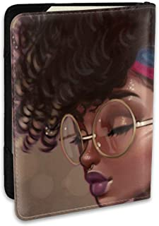 African American Black Woman Personalized Fashion Leather Passport Holder Covers Case Travel Wallet 6.5 In For Women Men