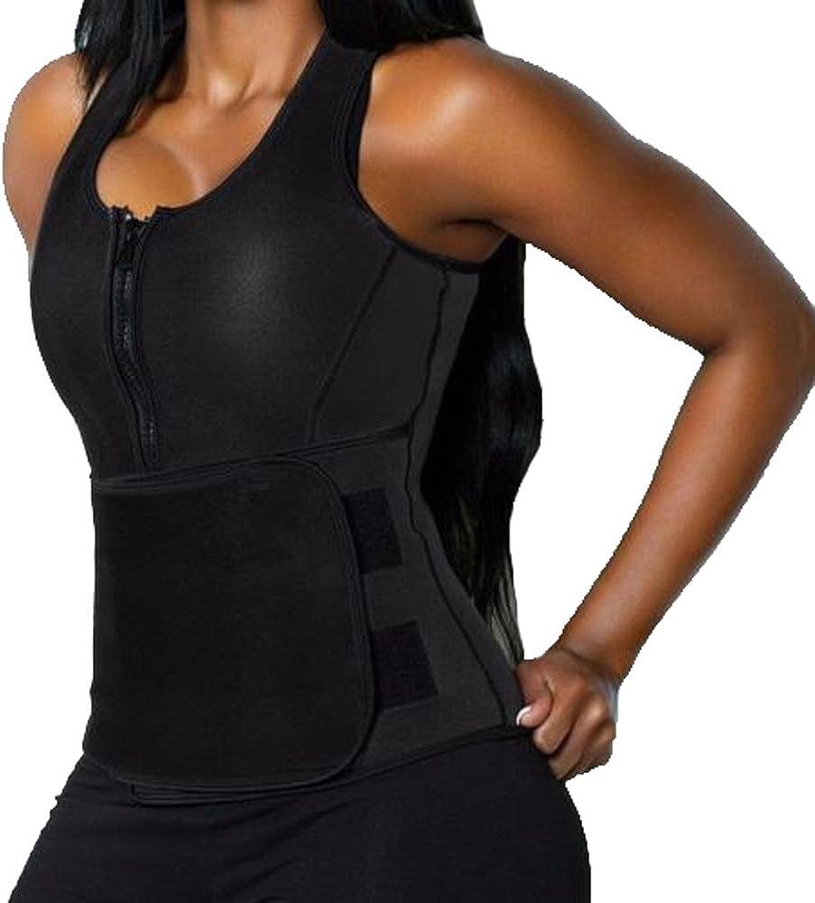 DODOING Neoprene Sweat Vest for Women Slimming Body Shaper with Adjustable Waist Trimmer Belt Weight Loss