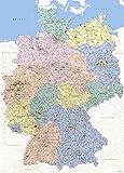Landkarten Giant XXL Poster - Deutschlandkarte -