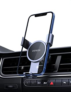 UGREEN Gravity Auto Telefoonhouder Autohouder met Stille Structuur voor Ventilatierooster Compatibel met iPhone 13 Pro Max...