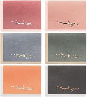 モノライク サンキューミニカードミニサイズ6枚セト Mini card Thank you A -小判カードかわいいカードギフトカード祝賀カード