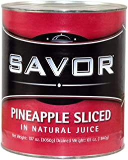 Savor Pineapple Slice Packed in Juice Choice #10 Can, 6 per case