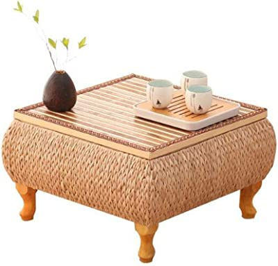Table Tables Coffee Table Rattan Bay Window Tea Table Small Coffee Table in The Living Room Household Tatami Table Tray Table Gift,A
