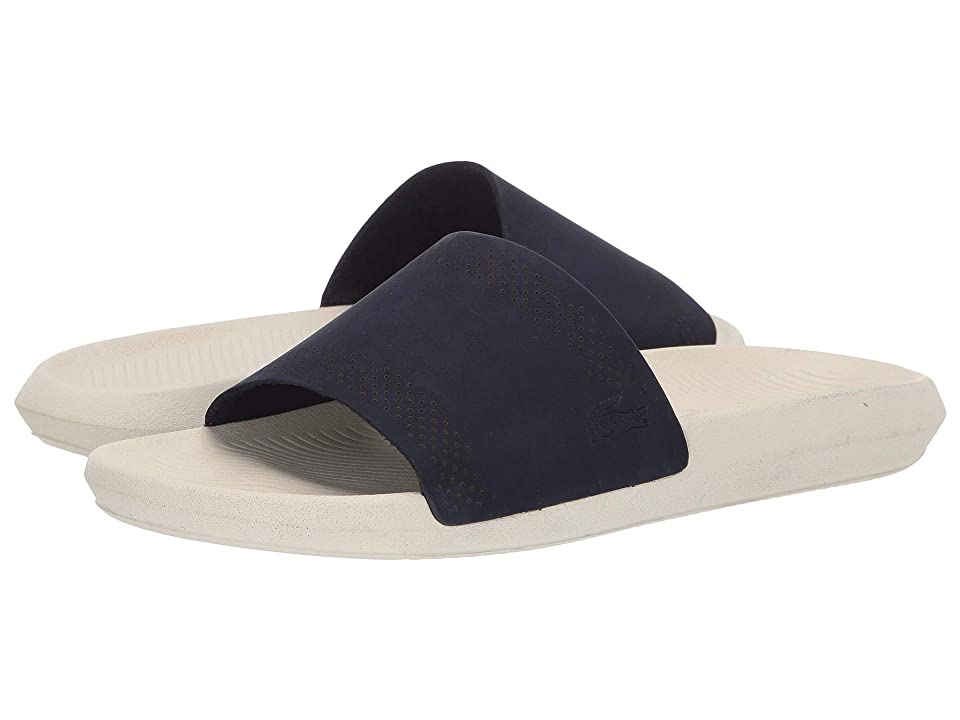 Lacoste Croco Slide 119 5 (Navy/Off-White) Men