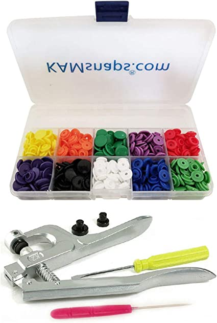 DIY Crafts Starter Kit No-Sew Buttons for Diaper Cloth Fastener Setter Hand Tool Snap Set