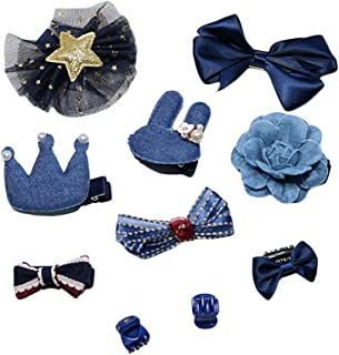 Zerototens Hair Bows For Girls Baby Hair Clips For Infant Boutique Wedding Party Hair Accessories Crystal Crown Baby Kids Girls Children Shiny Princess Bowknot Motifs Hair Clip A