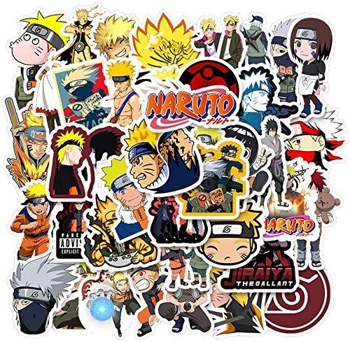 Huayao Naruto-Aufkleber 50St. Graffiti-Sticker Vinyls für Laptop, Autos, Motorrad, Fahrrad, Skateboard-Gepäck, Autoaufkleber-Aufkleber wasserdichte Trendige Aufkleber für Jugendliche, Kinder