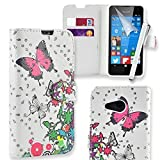 Connect Zone PU Leather Flip Wallet Case Cover Pouch for