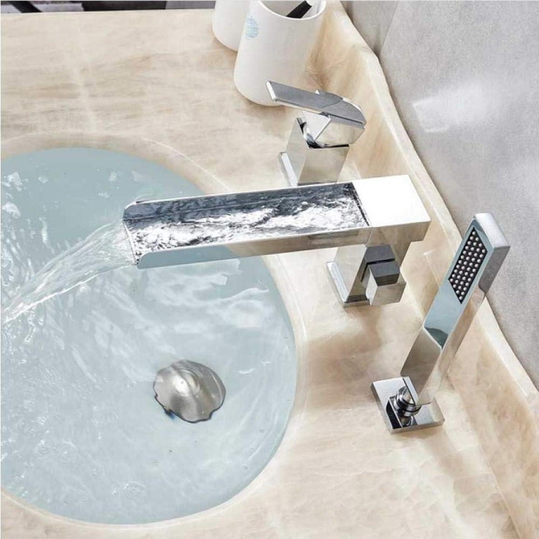 Weit verbreitet badewanne waschbecken wasserhahn einhand badewanne mischer mit handbrause messing langen auslauf wasserfall badewanne mischer wasserhahn