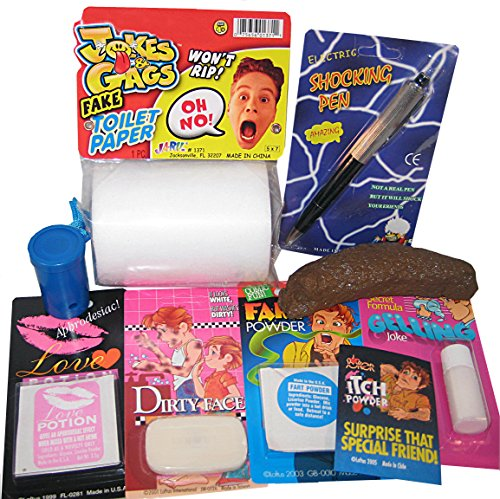 The One Stop Fun Shop College Dorm Prank Kit - 9 Hilarious Pranks and Gags