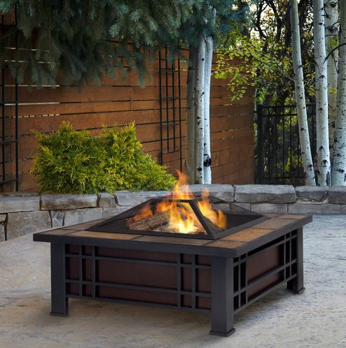Patio Furniture-Premium Wood Burning Fire Pit-Patio Fire Pit-Ideal Centerpiece For Keeping Family And Friends Warm And Entertained Outdoors -100% Thrilled Customer Guarantee!