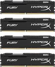 Kingston HyperX FURY Black 16GB Kit (4x4GB) 2133MHz DDR4 Non-ECC CL14 DIMM Desktop Memory (HX421C14FBK4/16)